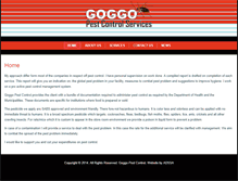 Tablet Preview of goggopestcontrol.co.za